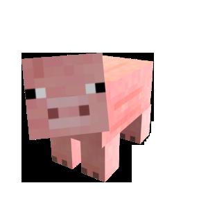 Minecraft Cerdo mascota