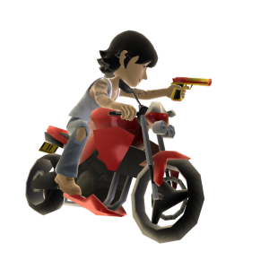 Motorcycle With Toy Handgun