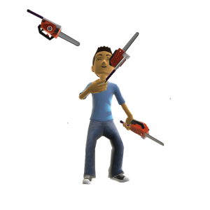 Toy Chainsaw Juggle