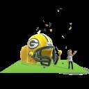 Packers Inflatable Helmet