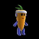 Peluche da mascote cenoura