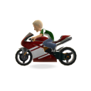 Motor Bike - Red Mega