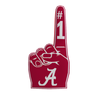 Alabama Foam Finger