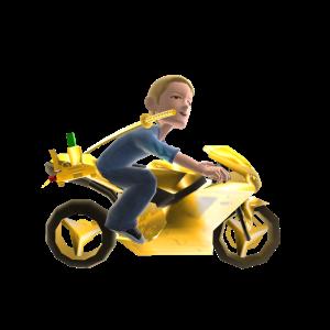 Toy Katana Assault Bike - Gold