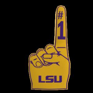 LSU Foam Finger