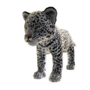 Jaguar blanc (peluche)