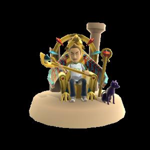 Gold Egyptian Throne