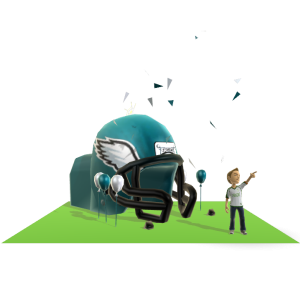 Eagles Inflatable Helmet