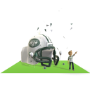 Jets Inflatable Helmet