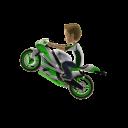Green Stunt Rider