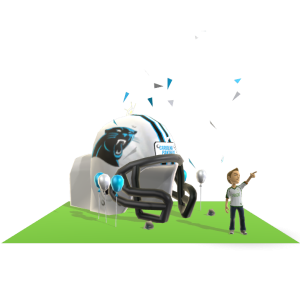 Panthers Inflatable Helmet