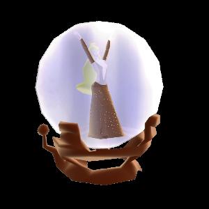 Daphne no globo de neve
