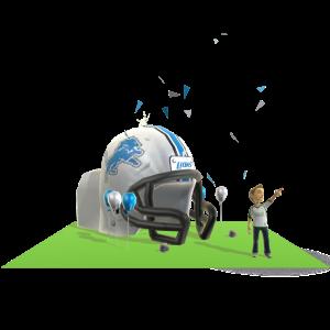 Lions Inflatable Helmet