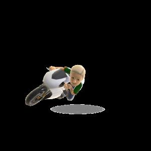 Motor Bike - White Swift