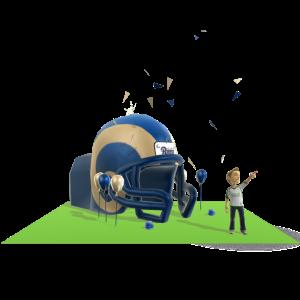 Rams Inflatable Helmet