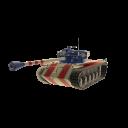 Tanque norteamericano patriótico
