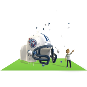 Titans Inflatable Helmet