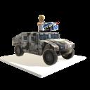 Toy Humvee Gunner - Arctic