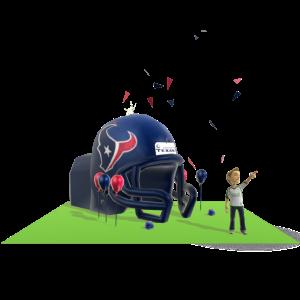 Texans Inflatable Helmet