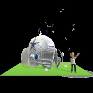 Cowboys Inflatable Helmet