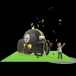 Steelers Inflatable Helmet