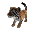 Mascote Tigre-de-bengala Real do Zoo Tycoon