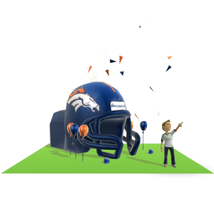 Broncos Inflatable Helmet