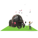 Falcons Inflatable Helmet