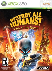 Carátula para el juego Destroy All Humans! Path of the Furon de Xbox 360