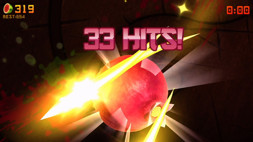 Image from Fruit Ninja Kinect